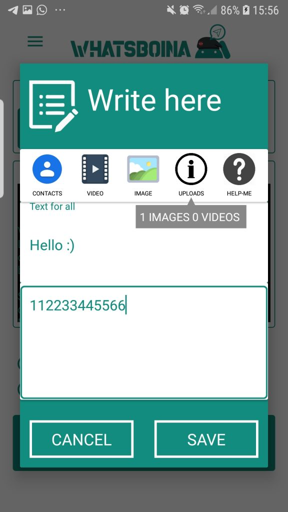 Whatsapp MArketing Android Application